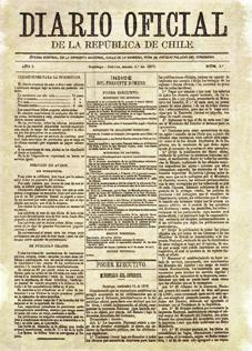 Primer Diario Oficial publicado en 1877